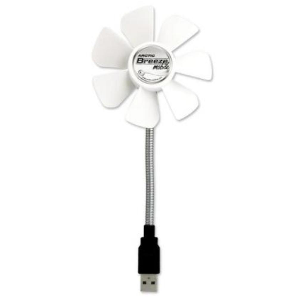 Arctic - USB ventilator - Met flexibele zwanenhals - Mobile Breeze - Wit