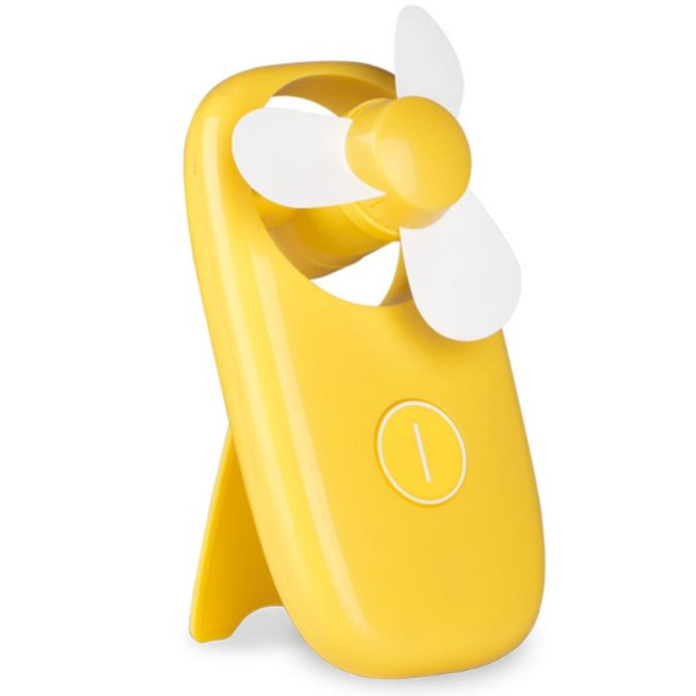 Lifetime Air - Yellow Stand - Hand ventilator - Compact - Geel